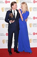 Sean Bean and Joely Richardson in the winners room for the BAFTA TV Awards 2018 at the Royal Festival Hall, London, UK. <br /> 13 May  2018<br /> Picture: Steve Vas/Featureflash/SilverHub 0208 004 5359 sales@silverhubmedia.com