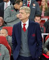 Arsenal Manager Arsene Wenger during the UEFA Europa League match between Arsenal and FC Koln at the Emirates Stadium, London, England on 14 September 2017. Photo by Andrew Aleksiejczuk / PRiME Media Images