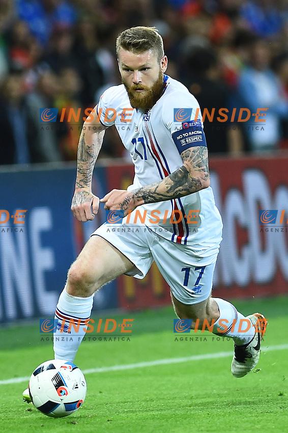 Aaron Gunnarson Iceland <br /> Saint-Etienne 14-06-2016 Stadium Geoffroy-Guichard Football Euro2016 Portugal-Iceland / Portogallo-Islanda Group Stage Group F<br /> Foto Massimo Insabato / Insidefoto