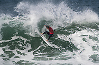 BELLS BEACH, Torquay, Victoria, Australia  (Saturday, March 31, 2018) Conner Coffin (USA) - The Rip Curl Pro Bells Beach, Stop No. 2 on the World Surf League (WSL) Championship Tour (CT),  started first thing this morning with the remaining four heats of men&rsquo;s Round 1 and men&rsquo;s Round 2. Women&rsquo;s Round 2 followed with late finish after 7pm. With five-to-eight foot (1.5 - 2.4 metre) waves on offer at Bells Beach, the competition will see a big day of action as the elite field battles to ring the coveted and iconic Bell. <br /> <br /> &ldquo;As predicted, wave heights have increased and conditions are clean, so we have moved back to our primary location of Bells Beach for our second day of competition,&rdquo; said WSL Commissioner. &ldquo;We are going to complete the remaining four heats of men&rsquo;s Round 1 and continue into men&rsquo;s Round 2...  It is going to be a big day of competition here at Bells.&rdquo;<br /> Photo: joliphotos.com