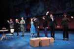 """Will LeBow, Kaitlyn Davidson, Corey March, Debra Monk, Boyd Gaines, Rebekah Brockman, Jacob ben Widmar and Kimberly Marable from  """"Mrs. Miller Does Her Thing""""  at the Signature Theatre on March 18, 2017 in Arlington, Virginia."""