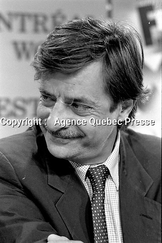 Montreal - Canada - File Photo - Italian actor Giancarlo Giannini news conference at the World Film Festival, August 26, 1989.<br /> <br /> Photo : Agence Quebec Presse - Pierre Roussel