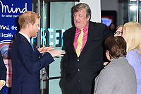 Prince Harry, Stephen Fry &amp; Fearne Cotton at the Virgin Money Giving Mind Media Awards at the Odeon Leicester Square, London, UK. <br /> 13 November  2017<br /> Picture: Steve Vas/Featureflash/SilverHub 0208 004 5359 sales@silverhubmedia.com