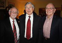 NWA Democrat-Gazette/CARIN SCHOPPMEYER Dick Trammel (from left), Bob Gullett and Morriss Henry celebrate with UAMS NW on Wednesday evening.