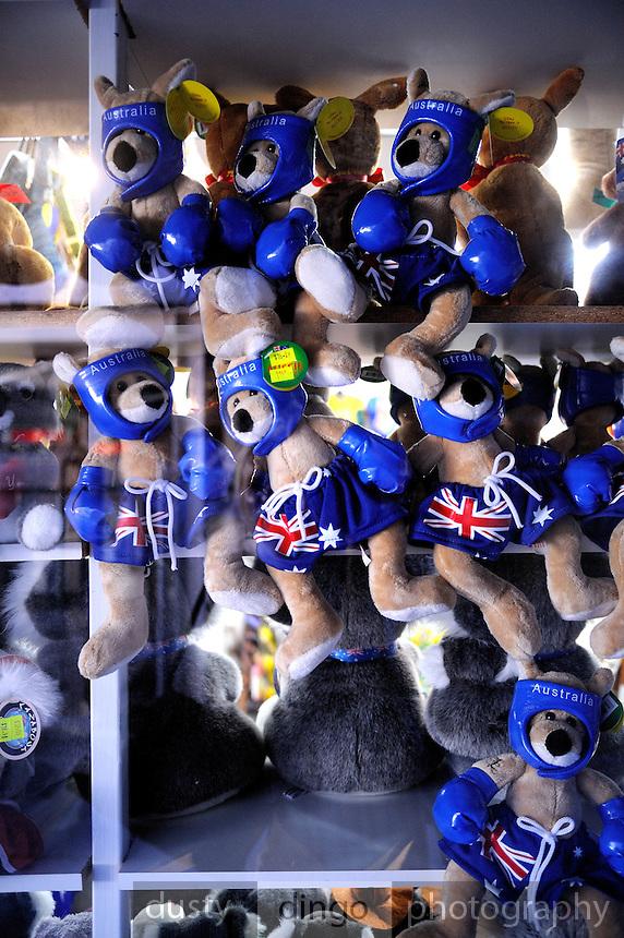 "Toy ""boxing kangaroo"" souvenirs. Perth, Western Australia"