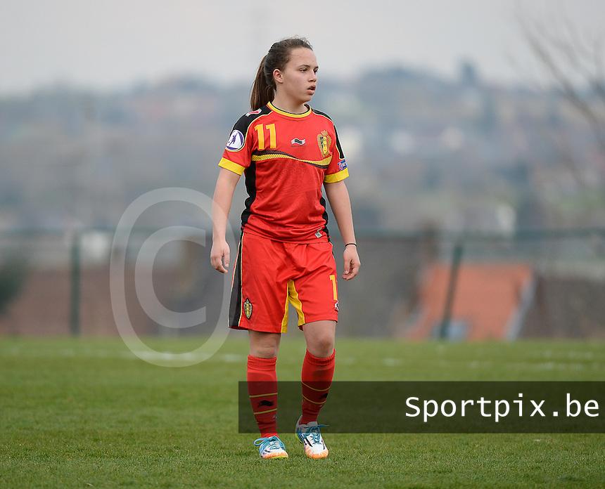 Women U15 : Belgian Red Flames - Nederland :<br /> <br /> Ellen Knockaert<br /> <br /> foto Dirk Vuylsteke / Nikonpro.be