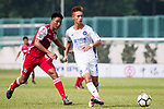 Ziyi Yang R&F F.C (R) fights for the ball with Hok Ming Lau of Kwoon Chung Southern (L) during the week three Premier League match between Kwoon Chung Southern and R&F at Aberdeen Sports Ground on September 16, 2017 in Hong Kong, China. Photo by Marcio Rodrigo Machado / Power Sport Images