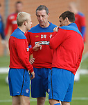 Steven Naismith, David Weir and Lee McCulloch in discussion