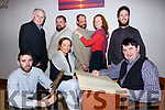 Scartaglen Drama group in rehearsals for  Translation by Brian Friel front row: Ger O'Connor, Moira Hughes, Mossy Butler. Back row: Tim Dineen, Dammy McClure, Vincent Salmon, Elaine Prenderville, Freddie Galvin,