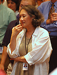 Gwen Young, seen at the retirement Celebration for Tony Marro held at Melville Office of Newsday on Tuesday, August 12, 2003. (Photo / Jim Peppler).