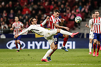 8th February 2020; Wanda Metropolitano Stadium, Madrid, Spain; La Liga Football, Atletico de Madrid versus Granada; Victor Machin VITOLO (Atletico de Madrid) sees the ball cleared by Victor Diaz (Granada CF)
