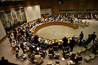 Members of the Security Souncil hold  a meeting at the UN headquarter in New York, July 19, 2012.  UN Security Council vetoed a resolution that would impose sanctions against Syria's President Bashar al-Assad if he does not end the use of heavy weapons.  as members of the 15-nation council to block resolutions on Syria. Photo by Eduardo Munoz Alvarez / VIEW.