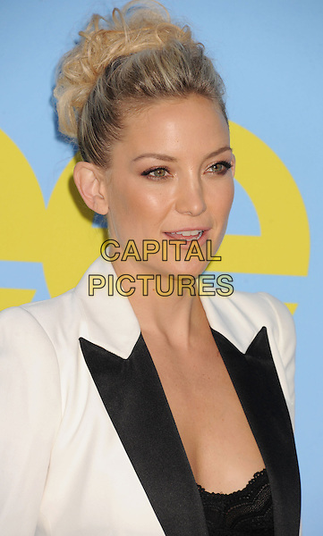 Kate Hudson.The 'GLEE' Premiere Screening and Reception at Paramount Pictures Studios in Hollywood, California, USA..September 12, 2012.headshot portrait white blazer lapels hair up top black lace mouth open.CAP/ROT/TM.©Tony Michaels/Roth Stock/Capital Pictures