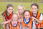 The Castleisland 4x100 relay team who competed at the Community Games County finals in An Riocht Castleisland last Sunday were L-r Elaine Doody, Grace McCarthy, Adrianne McEllistrim, Christine Brosnan and Aisling OConnor.