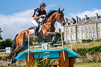 BEL-Kris Vervaecke rides Guantanamp Van Alsingen during the Cross Country for the CCIO4*-S FEI Nations Cup Eventing. 2019 FRA-Le Grand Complet at Le Haras du Pin. Saturday 10 August. Copyright Photo: Libby Law Photography