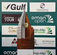 The trophy for the Oman Open 2020 at the Al Mouj Golf Club, Muscat, Oman . 01/03/2020<br /> Picture: Golffile | Thos Caffrey<br /> <br /> <br /> All photo usage must carry mandatory copyright credit (© Golffile | Thos Caffrey)