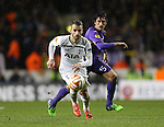 Tottenham's Roberto Soldado in action<br /> <br /> Europa League - Tottenham Hotspur  vs Fiorentina  - White Hart Lane - England - 19th February 2015 - Picture David Klein/Sportimage