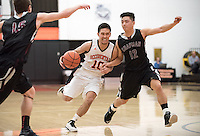 #10 Kory Hamane '16. The Occidental College men's basketball team plays against Chapman University in Rush Gym on Jan. 6, 2015. (Photo by Marc Campos, Occidental College Photographer)