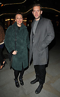 Jessica Ellerby and Nick Hendrix at the Aquavit Nordic winter garden VIP launch party, Aquavit London, St James's Market, Carlton Street, London, England, UK, on Monday 13 November 2017.<br /> CAP/CAN<br /> &copy;CAN/Capital Pictures