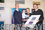 As part of the Fenit Regatta, Artist John Hurley donated a beautiful painting for the raffle which was won by Glen McCarthy. Pictured were: David Buttimer, Brendan and Glen McCarthy and John Hurley.