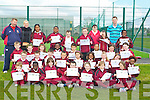ORIENTEERING: Pupils from Moyderwell Primary school who completed their orienteering training on Friday at Tralee Sport and Leisure Complex, were presented with thier certificates by their instructors from Tralee ITT Health and Leisure Students,, the pupils were, Samaul Abubakar,Esther Abegunloye,Isaac Amazu, Emmanuella Ayodegi, Precious Benjamin, Alan Brosnan, Nathan Comerfored-Greensmyth, Samuel Donovan, Aoife Sarah Doody, Orla Mai Duggan, Promise Rkwuhaqma, Cillian Griffin, Jennifer Kerins, Denisa Kelly Kicova, Sandra Kojic, Shaniece Coffey, Sarah Lostal Davern, Diarmuid Lynch, Sarlota Mojcherova, Aine Moriarty, Sophie Morris, Promise Moughalu, Shemeka Coffey, Kayleigh O'Donovan Bruse, Simi Ogungbesan, Jordan O'Shea, Cian Amine Ounnas, Rusian Pilipchick, Aodhan Quirke and Benita Sabaliauskaite. Teachers and instructors, David Breslin, Triona Wallace, Christine Commane and Mark Deegan..