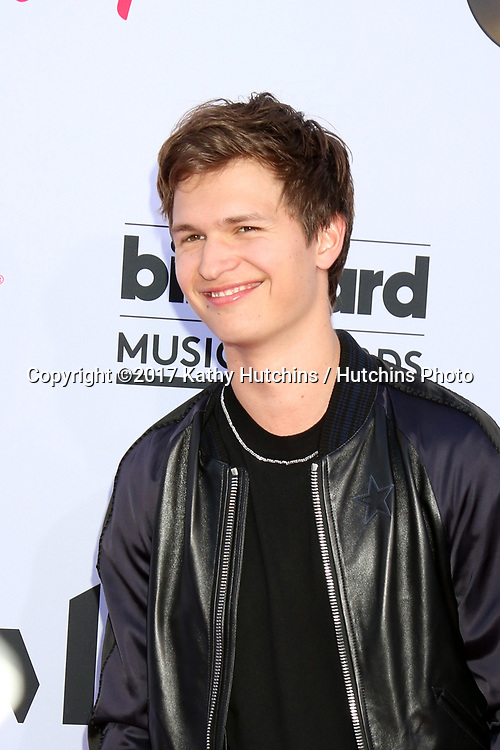 LAS VEGAS - MAY 21:  Ansel Elgort at the 2017 Billboard Music Awards - Arrivals at the T-Mobile Arena on May 21, 2017 in Las Vegas, NV