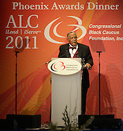 September 24, 2011  (Washington, DC)    The Reverend Joseph E. Lowery received the Phoenix Award at the Convention Center in Washington, DC.  The Phoenix Award is given to individuals that positively impact the African-American experience.  The Dinner concluded a week-long series of activities and panel discussions during the 41st Annual Legislative Conference of the Congressional Black Caucus Foundation.  (Photo by Don Baxter/Media Images International)