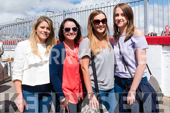 Stacey O'Sullivan (Dingle), Síne Williams (Camp), Michelle O'Connor and Clare Kavanagh (Dingle) enjoying the Dingle Races over the weekend.