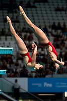 FAZEKAS-GONDOS Flora, KORMOS Villő HUN<br /> Diving <br /> Women's 3m Synchro Springboard Preliminary<br /> Day 04 17/07/2017 <br /> XVII FINA World Championships Aquatics<br /> Duna Arena Budapest Hungary July 15th - 30th 2017 <br /> Photo @A.Masini/Deepbluemedia/Insidefoto
