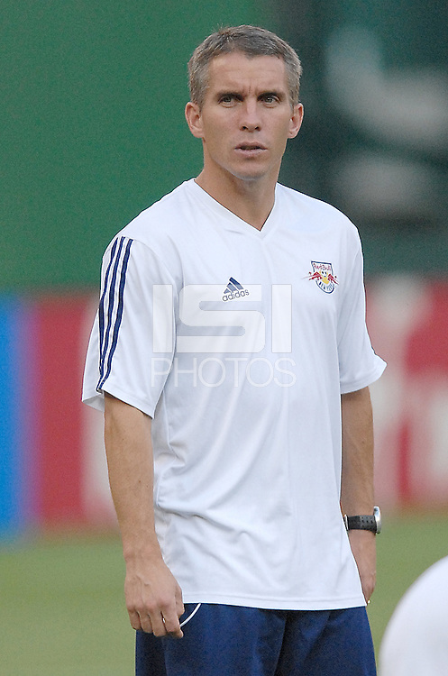 US Open Cup Quarterfinal, Red Bulls Assistant Coach Richie Williams during pre-game warmups. DC United defeated the New York Red Bulls 3-1, Wednesday, August 23, 2006 at RFK Stadium.