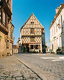 FRANCE, Burgundy, exterior of buildings and streets in Noyers
