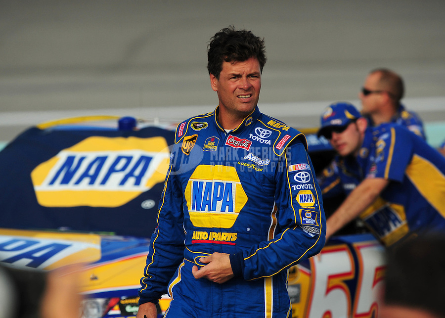 Nov. 14, 2008; Homestead, FL, USA; NASCAR Sprint Cup Series driver Michael Waltrip during qualifying for the Ford 400 at Homestead Miami Speedway. Mandatory Credit: Mark J. Rebilas-