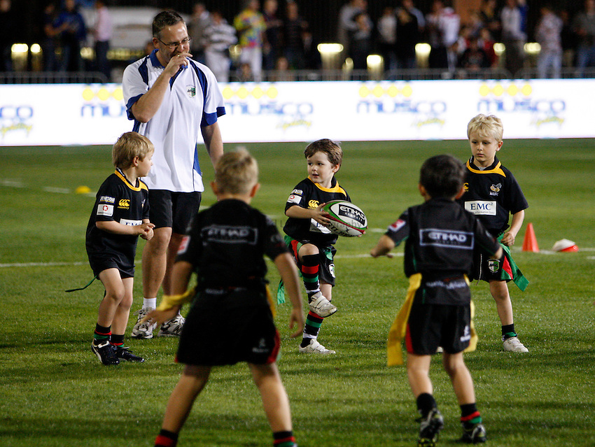 Photo: Richard Lane/Richard Lane Photography. London Wasps v Harlequins. LV= Cup. 30/01/2011. Tag rugby.