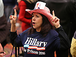 Supporter CJD Rohan waits for Republican presidential candidate Donald Trump during a campaign stop in Reno, Nev., on Sunday, Jan. 10, 2016. <br /> Photo by Cathleen Allison