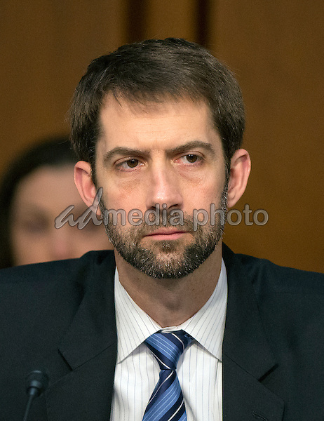 United States Senator Tom Cotton (Republican of Arkansas) listens as witnesses are questioned during an open hearing held by the US Senate Select Committee on Intelligence to examine worldwide threats on Capitol Hill in Washington, DC on Tuesday, February 9, 2016. Photo Credit: Ron Sachs/CNP/AdMedia