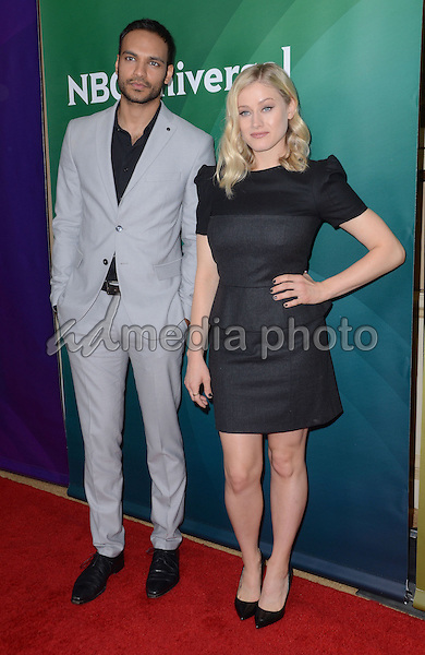 14 January  - Pasadena, Ca - Arjun Gupta, Olivia Taylor Dudley. NBC Universal Press Tour Day 2 held at The Langham Huntington Hotel. Photo Credit: Birdie Thompson/AdMedia