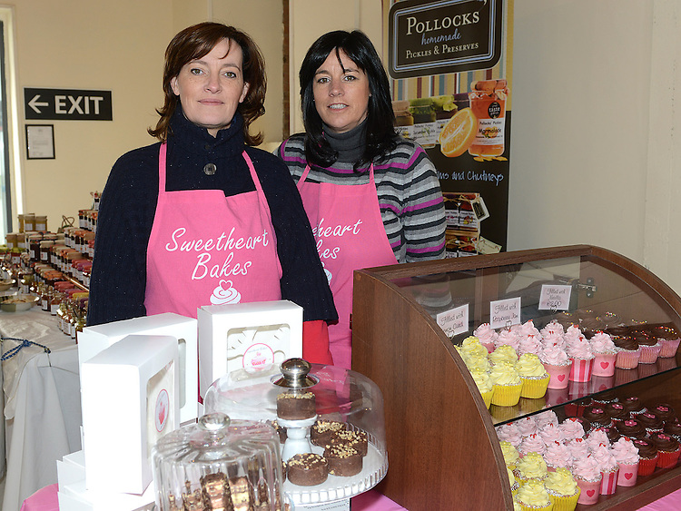 Annamarie McNamee and Patricia Keenan from Sweetheart Bakes at the Old Schoolhouse market on Laurence street. Photo:Colin Bell/pressphotos.ie