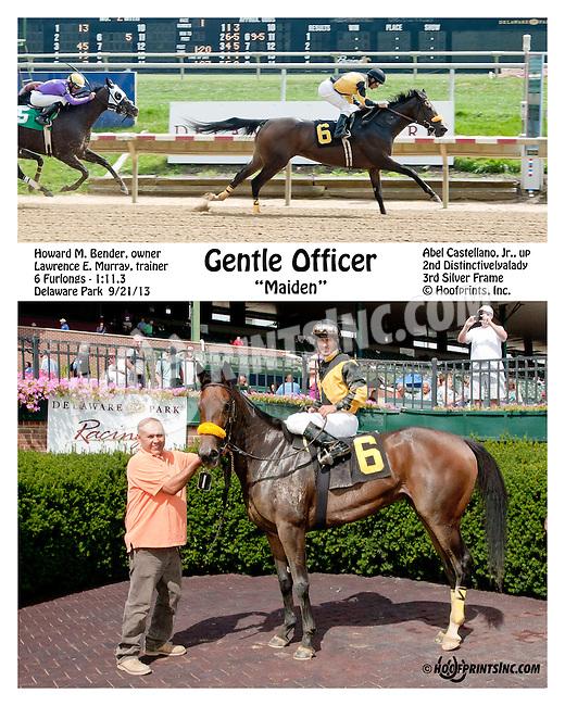 Gentle Officer winning at Delaware Park on 9/21/13