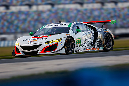 5-8 January, 2017, Daytona Beach, Florida USA<br /> 93, Acura, Acura NSX, GTD, Andy Lally, Katherine Legge, Mark Wilkins<br /> ©2017, Jake Galstad<br /> LAT Photo USA