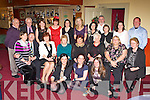 Killorglin Family Resource Centre staff who celebrated their Christmas Party in the Manor Inn on Friday  night front row l-r: Helena O'Sullivan, Sarah O'Brien, Bernie O'Sullivan. Middle row: Rosalie Champ, Eric Champ, Margaret Mangan, Maureen Gamble, Margaret Wrenn, Helen O'Shea, Lorna Richardson, Mary O'Sullivan. Back row: Paul O'Raw, Paddy O'Donoghue, Caroline O'Connor, Kathleen Morris, Teuta Sahita, Eileen Quirke, Christina Harper, Jack O'Sullivan, Mary Deinum, Kerryanne Dwyer and Anthony O'Sullivan.