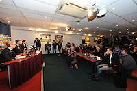 VOETBAL: SC HEERENVEEN: Abe Lenstra Stadion, 13-02-2012, Persconferentie, Presentatie nieuwe trainer Marco van Basten, media, ©foto: Martin de Jong