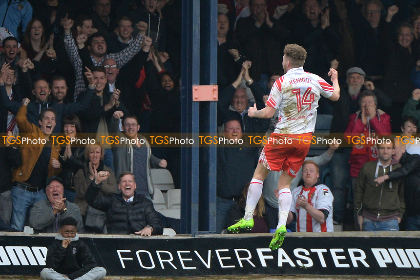 ben kennedy celebrates his goal with fans   during Luton Town vs Stevenage, Sky Bet EFL League 2 Football at Kenilworth Road on 11th March 2017