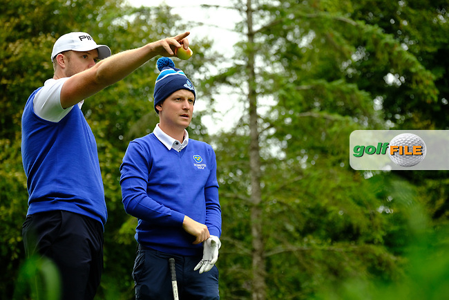Peter O'Keeffe & Geoff Lenehan (Munster) during final day foursomes at the Interprovincial Championship 2018, Athenry golf club, Galway, Ireland. 31/08/2018.<br /> Picture Fran Caffrey / Golffile.ie<br /> <br /> All photo usage must carry mandatory copyright credit (© Golffile | Fran Caffrey)