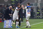 Mario Pasalic of Atalanta is substituted for Luis Muriel during the Serie A match at Giuseppe Meazza, Milan. Picture date: 11th January 2020. Picture credit should read: Jonathan Moscrop/Sportimage