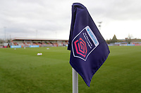 General view of the FAWSL corner flag during Arsenal Women vs Bristol City Women, Barclays FA Women's Super League Football at Meadow Park on 1st December 2019