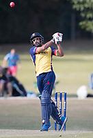 Ravi Bopara of Essex picks up a maximum over long on during Upminster CC vs Essex CCC, Benefit Match Cricket at Upminster Park on 8th September 2019
