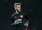 David De Gea of Manchester United during the English League Cup Quarter Final match at Old Trafford  Stadium, Manchester. Picture date: November 30th, 2016. Pic Simon Bellis/Sportimage