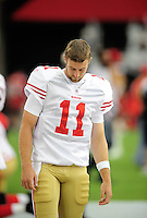 Sept. 13, 2009; Glendale, AZ, USA; San Francisco 49ers quarterback Alex Smith against the Arizona Cardinals at University of Phoenix Stadium. San Francisco defeated Arizona 20-16. Mandatory Credit: Mark J. Rebilas-