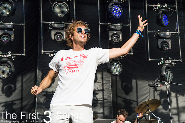 Aaron Bruno of Awolnation performs onstage during the Firefly Music Festival in Dover, Delaware.