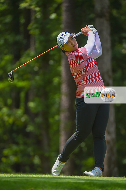 Amy Yang (KOR) watches her tee shot on 2 during round 1 of the U.S. Women's Open Championship, Shoal Creek Country Club, at Birmingham, Alabama, USA. 5/31/2018.<br /> Picture: Golffile | Ken Murray<br /> <br /> All photo usage must carry mandatory copyright credit (© Golffile | Ken Murray)